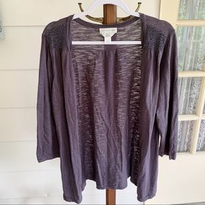 Christopher & Banks - Hand Beaded Grey Cardigan